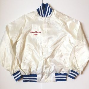 Vintage Sky blue and white satin jacket 1995'